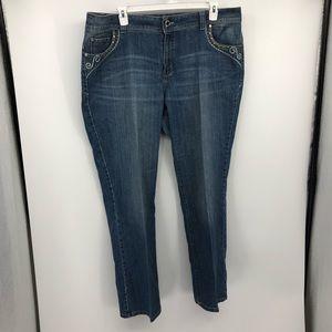 Lane Bryant Slim Boot Jeans 22W Plus Size Bling
